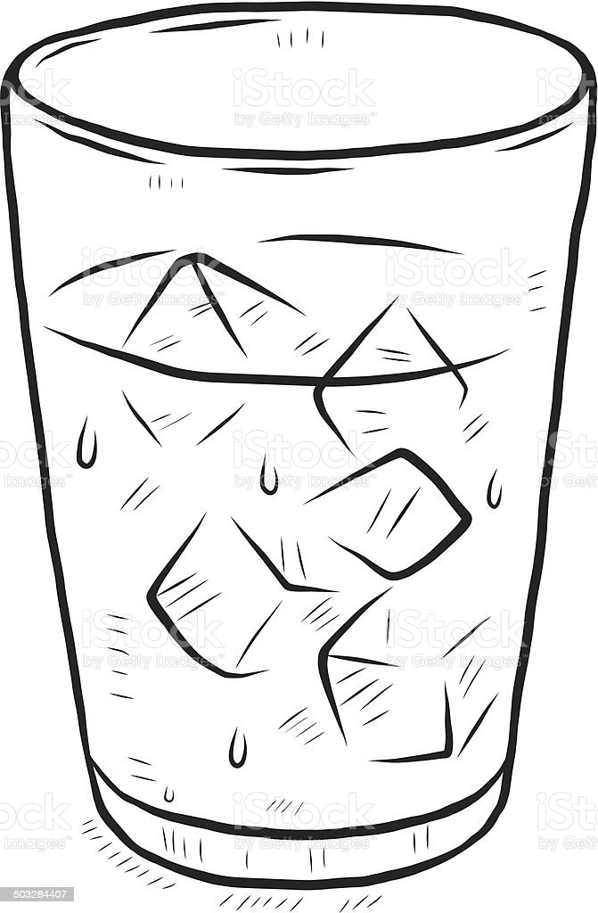 Glass Of Cool Water stock vector art 503284407 | iStock