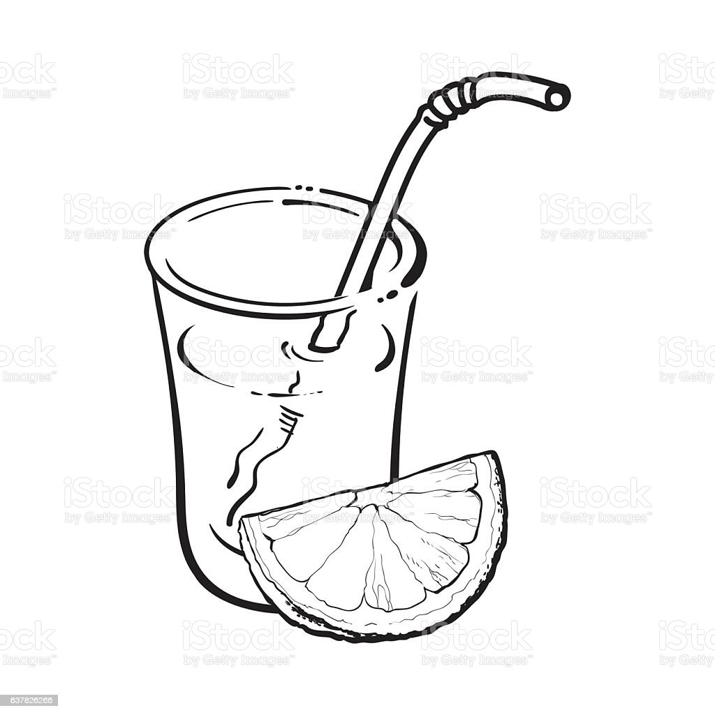 Glass of freshly squeezed juice with orange piece, vector illustration vector art illustration