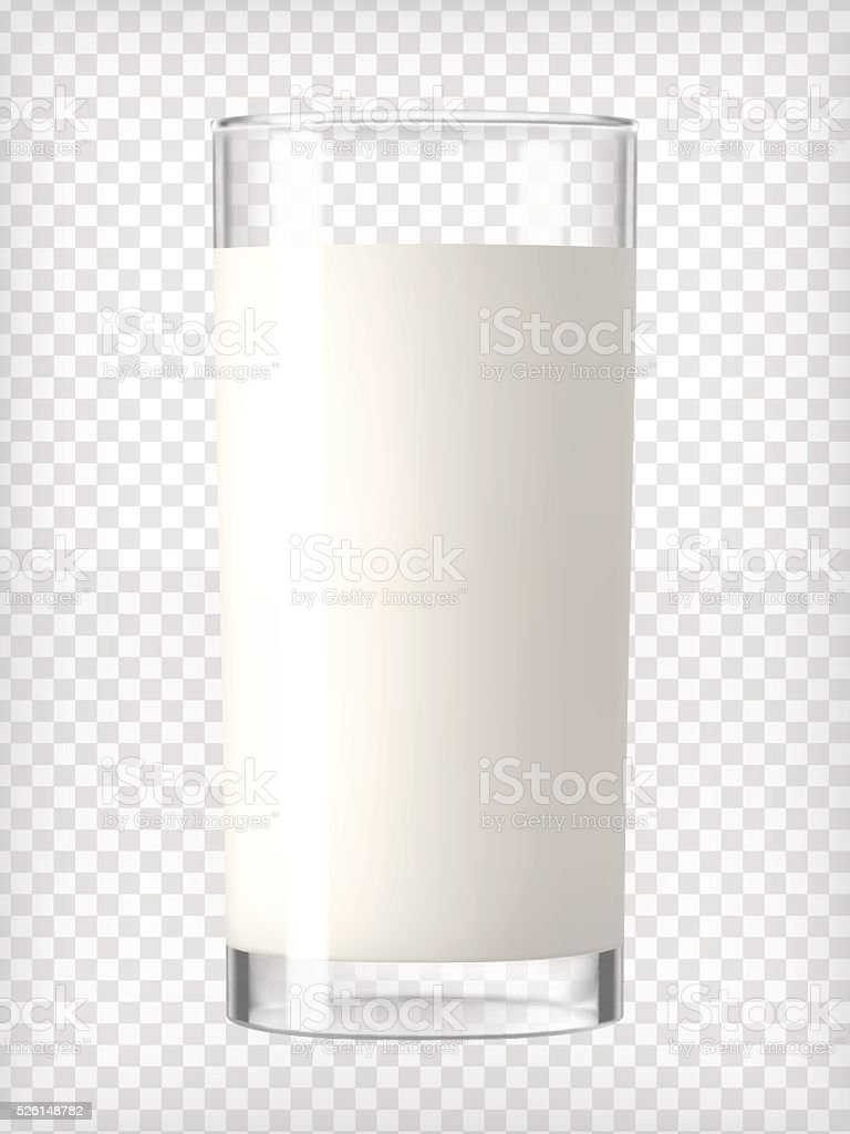 Glass of Milk vector art illustration
