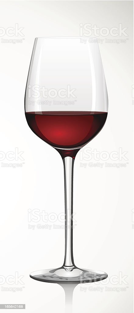 glass of red wine - Rotweinglas vector art illustration
