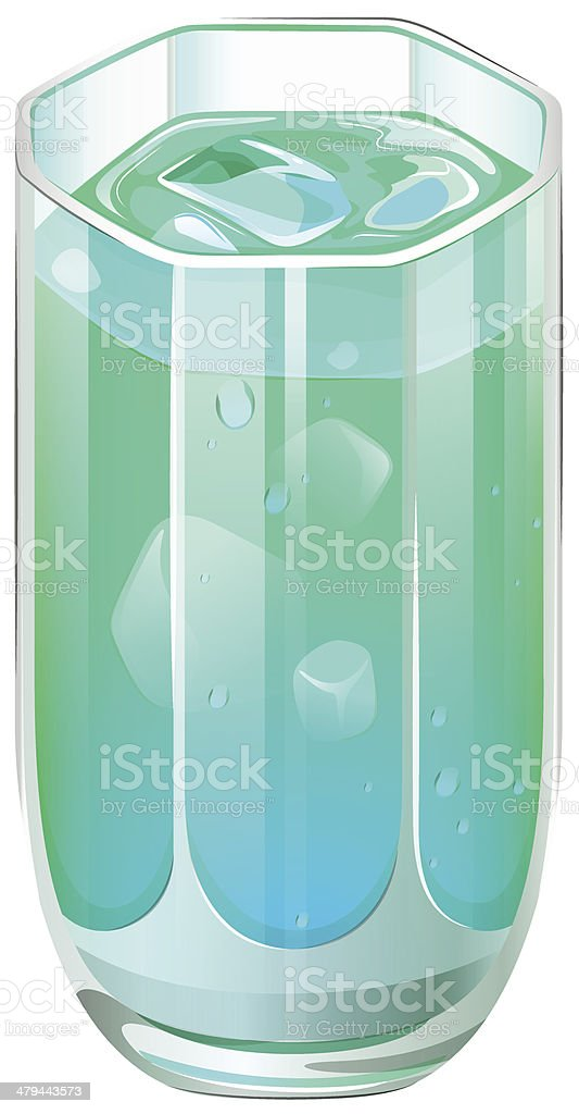 Glass of refreshing cocktail drink royalty-free stock vector art