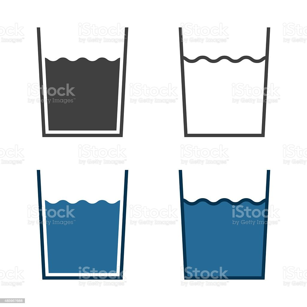 Glass Of Water Icon vector art illustration