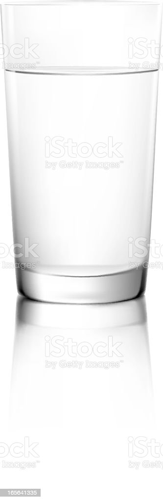 Glass of water royalty-free stock vector art