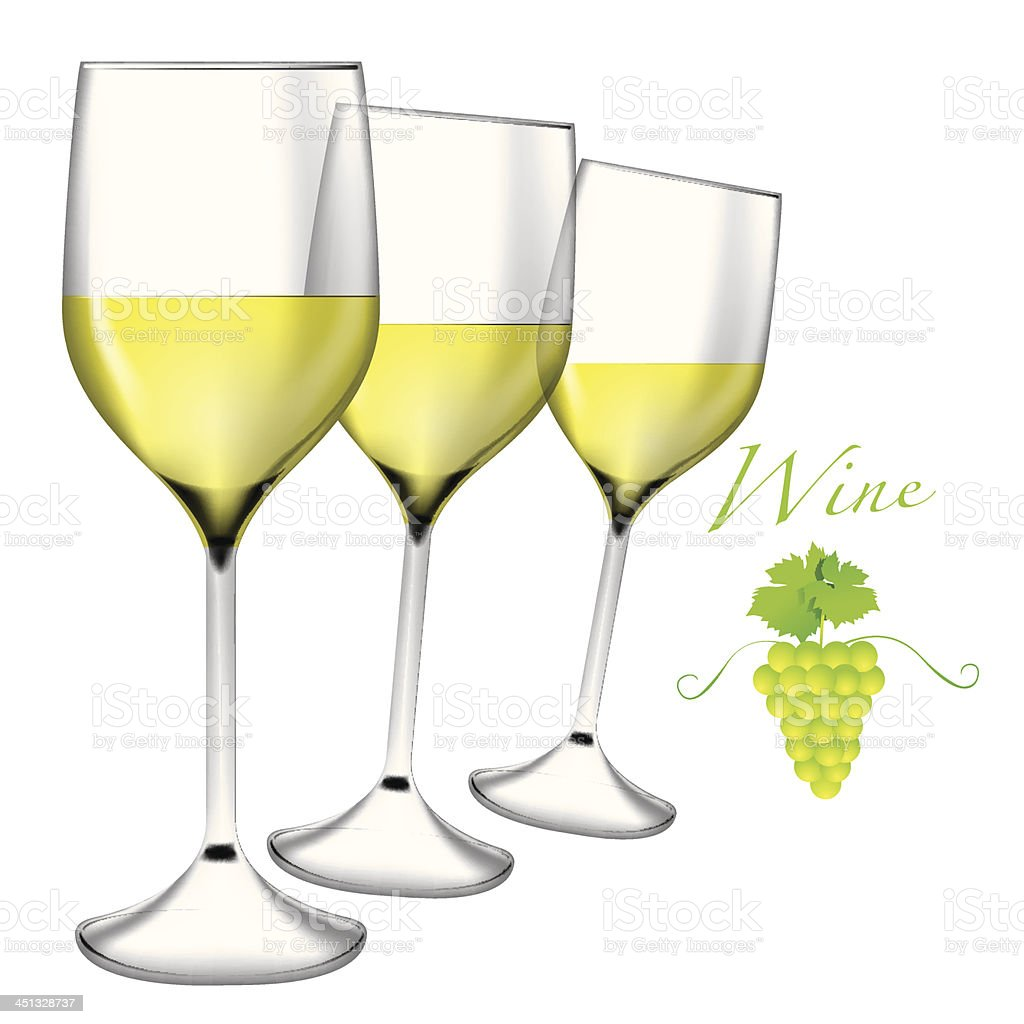 Glass of wine and grapes vector royalty-free stock vector art