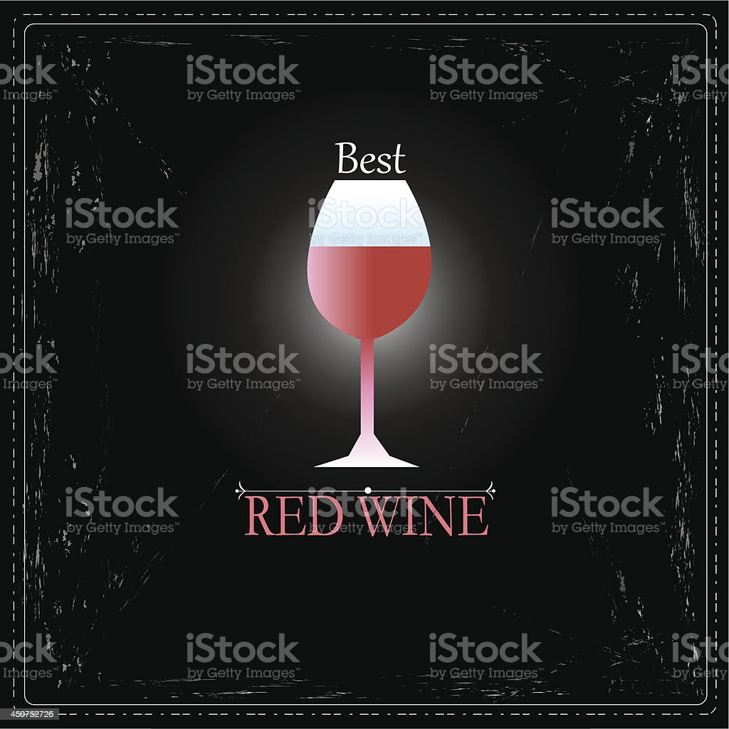glass of wine sign vector art illustration