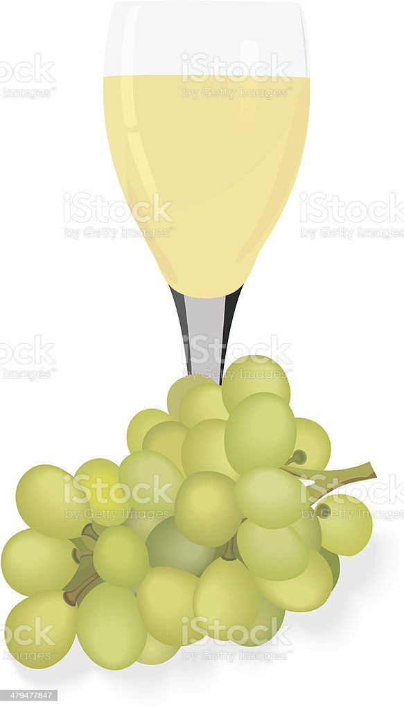 Glass of wine. royalty-free stock vector art