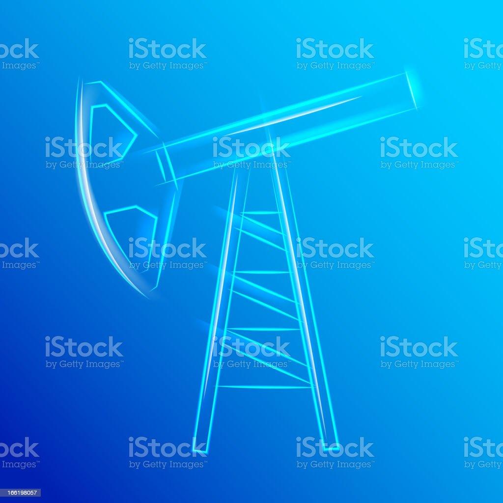 Glass oil pump royalty-free stock vector art