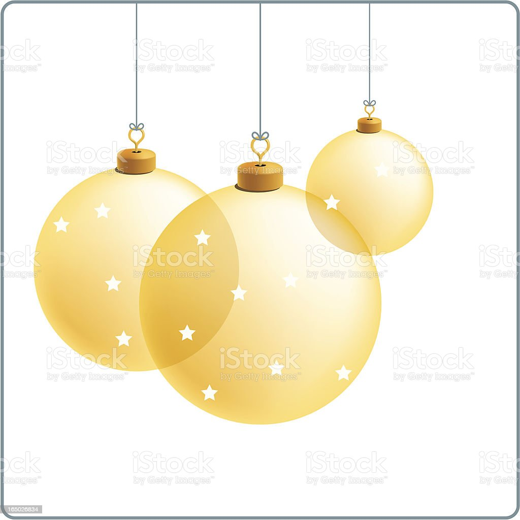 glass ornaments royalty-free stock vector art