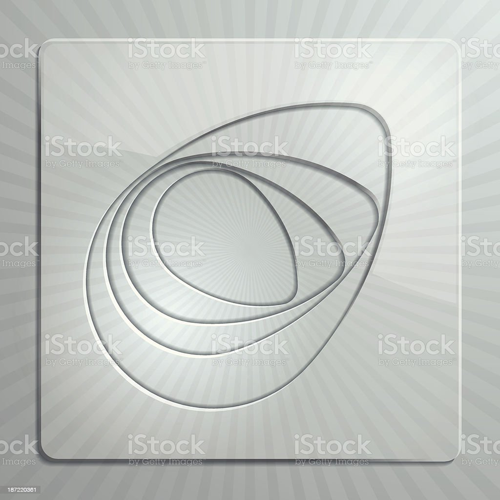 Glass Panels royalty-free stock vector art