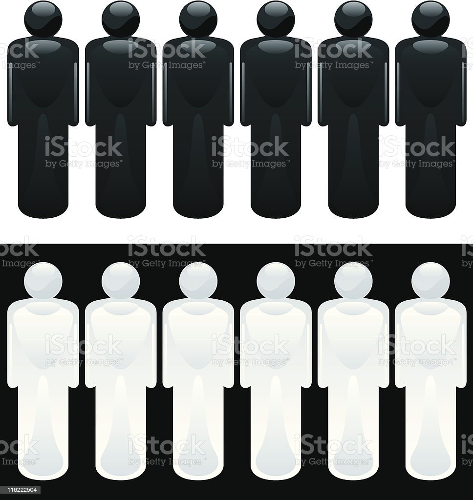Glass People royalty-free stock vector art
