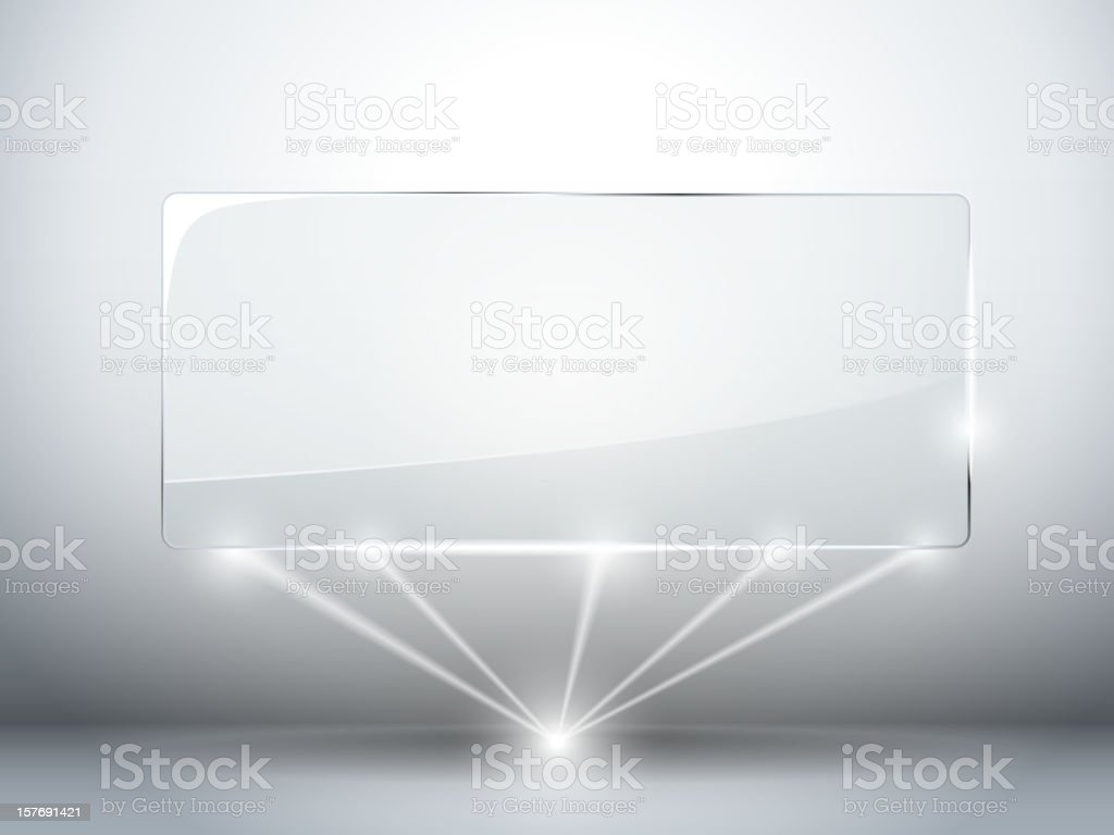 Glass Plate Background with Lasers royalty-free stock vector art
