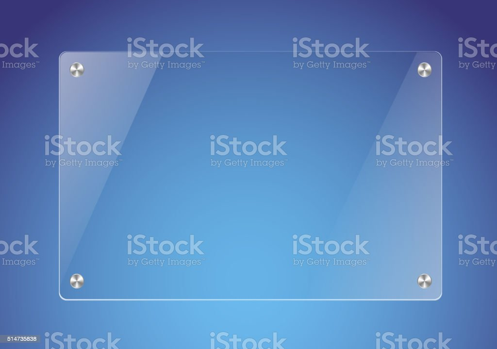 Glass plate vector art illustration
