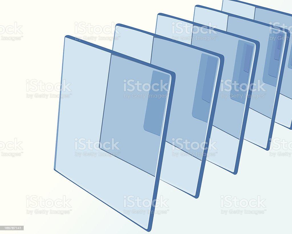 glass rectangles vector art illustration