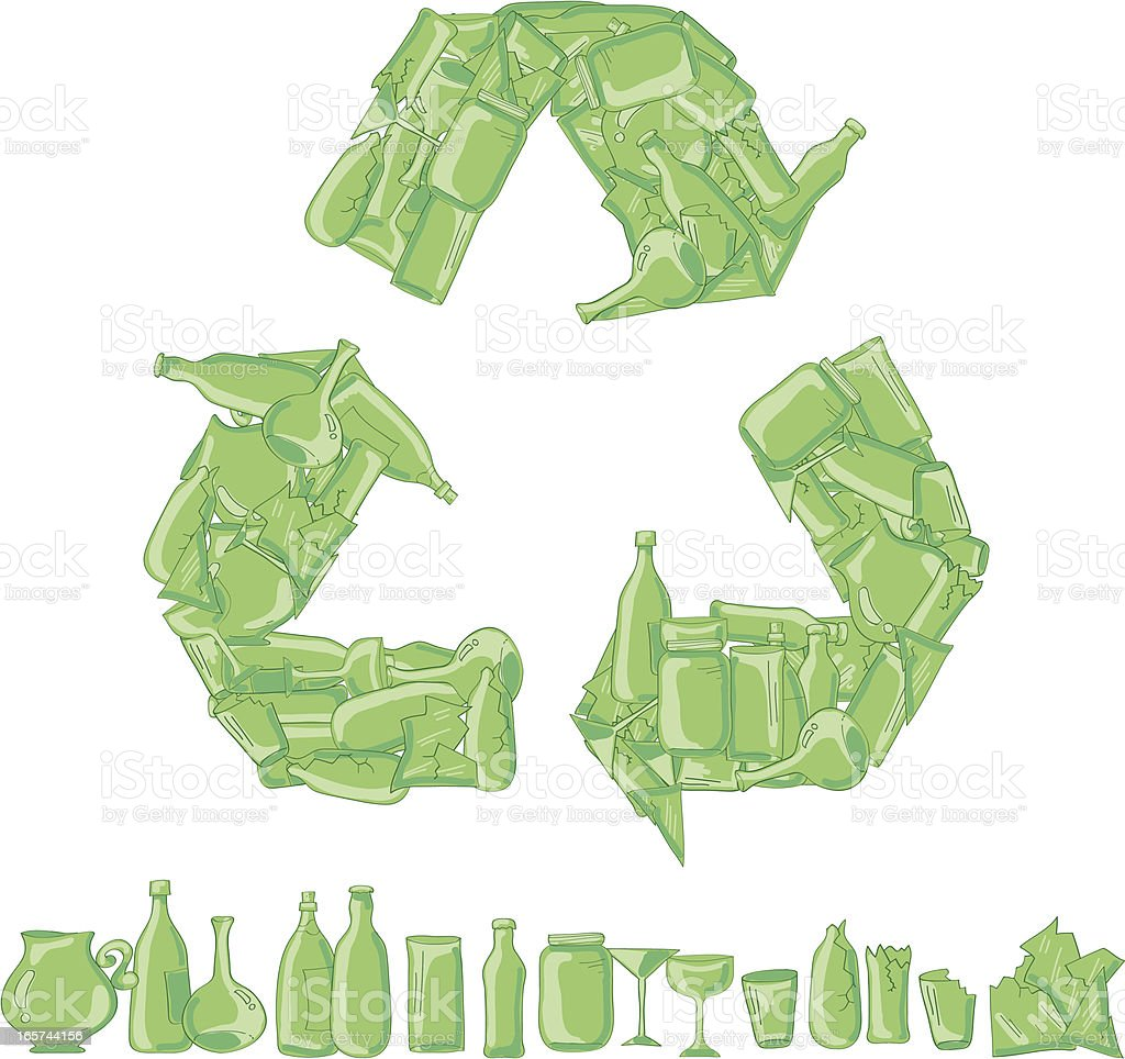 Glass Recycle royalty-free stock vector art