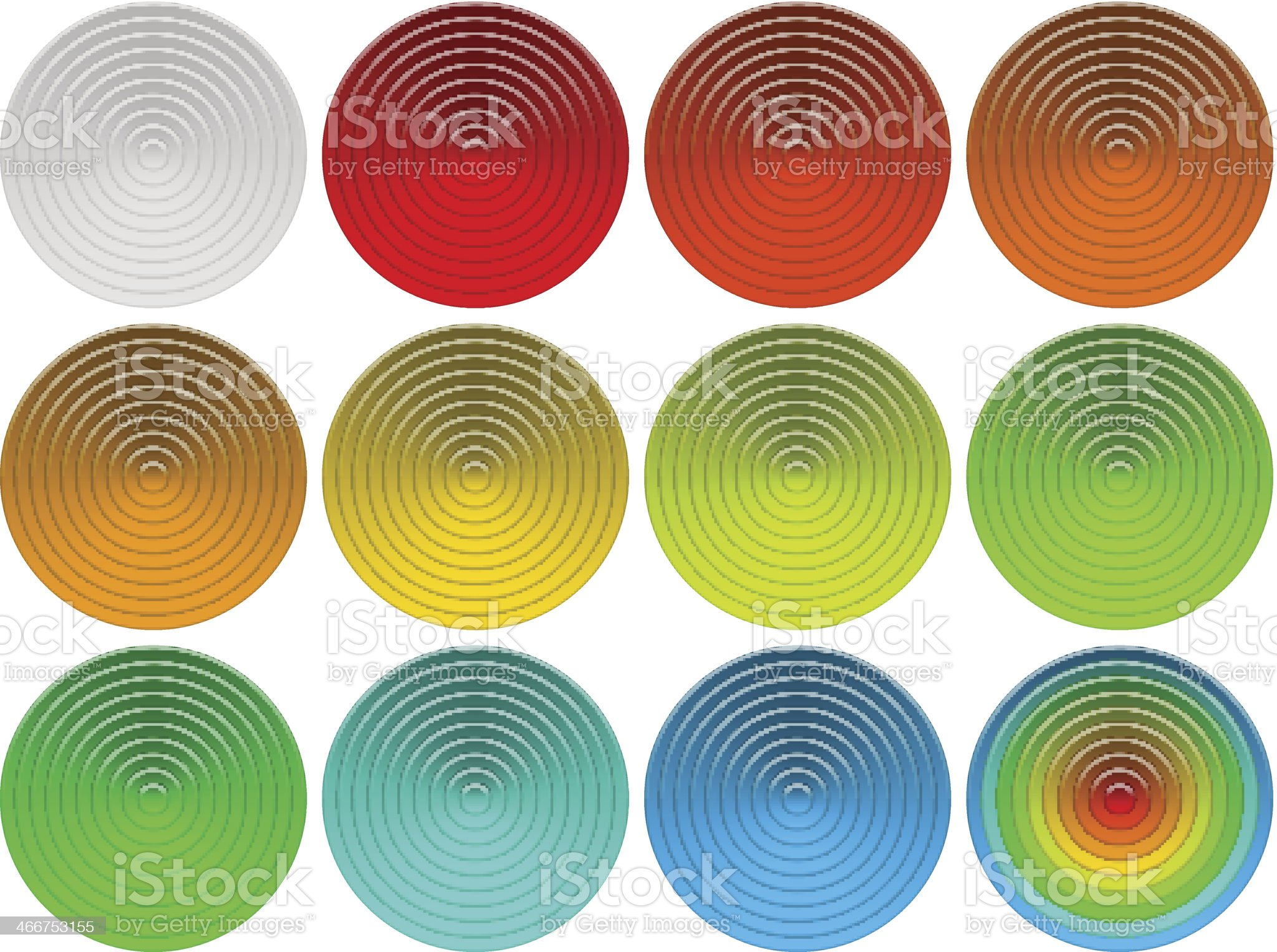 Glass round buttons set royalty-free stock vector art