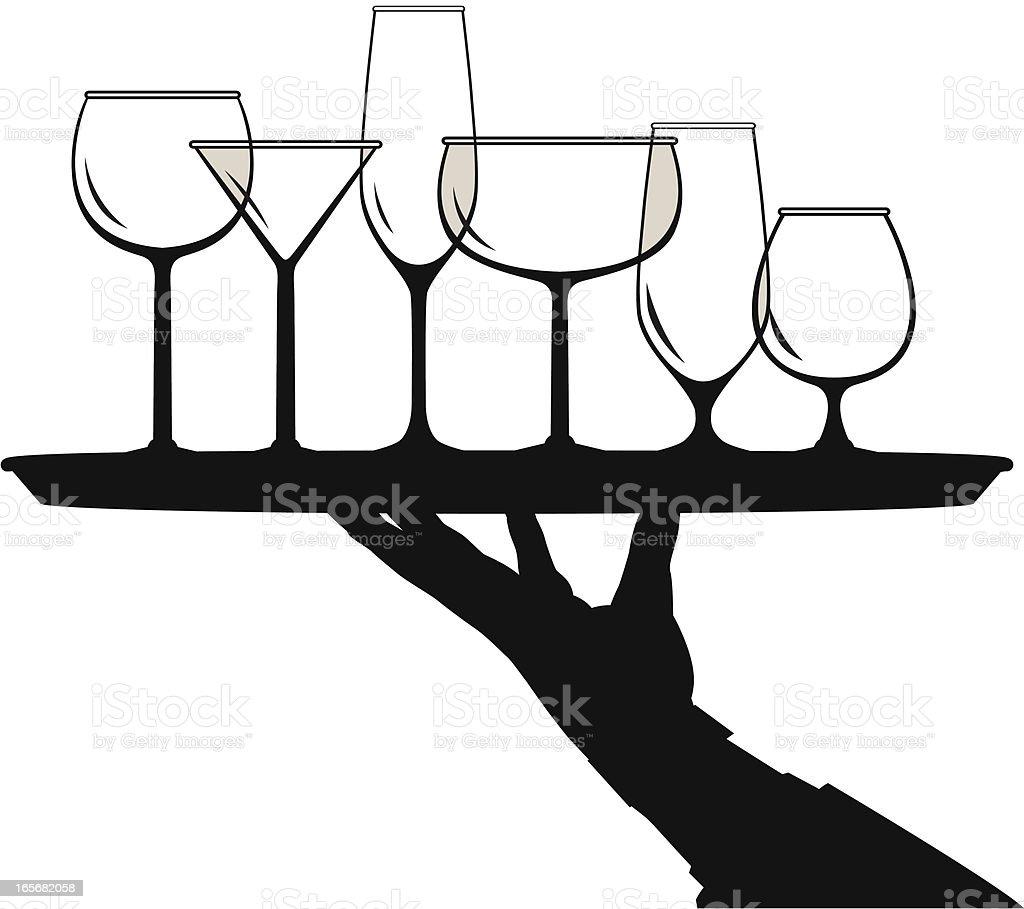 glass server vector art illustration