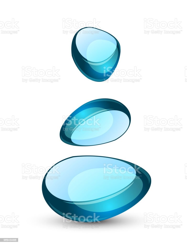 Glass shapes royalty-free stock vector art