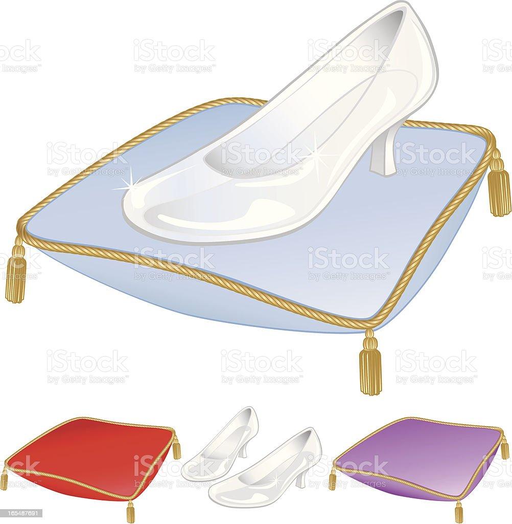 Glass Slipper/Shoe royalty-free stock vector art