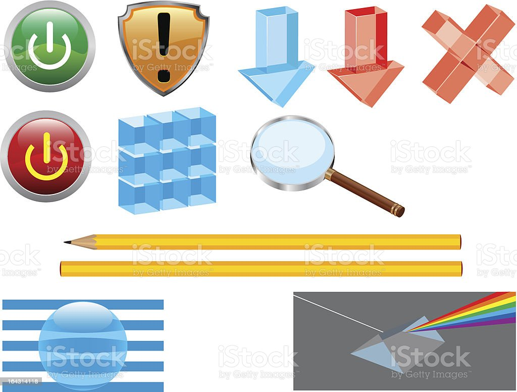 Glass stuff for icons _vector royalty-free stock vector art