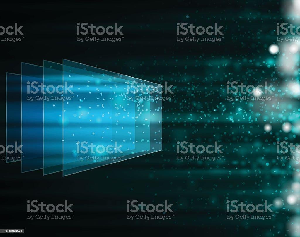 glass style technology background vector art illustration