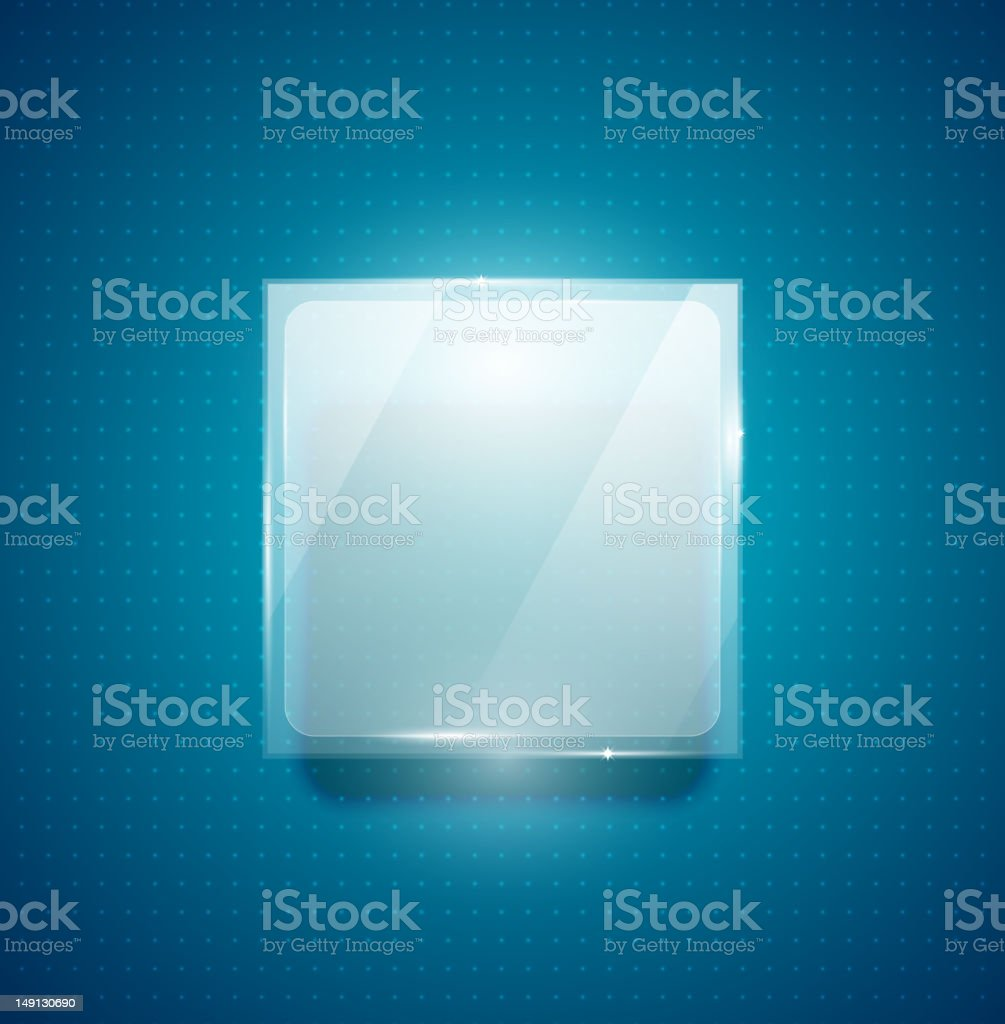 Glass web box royalty-free stock vector art