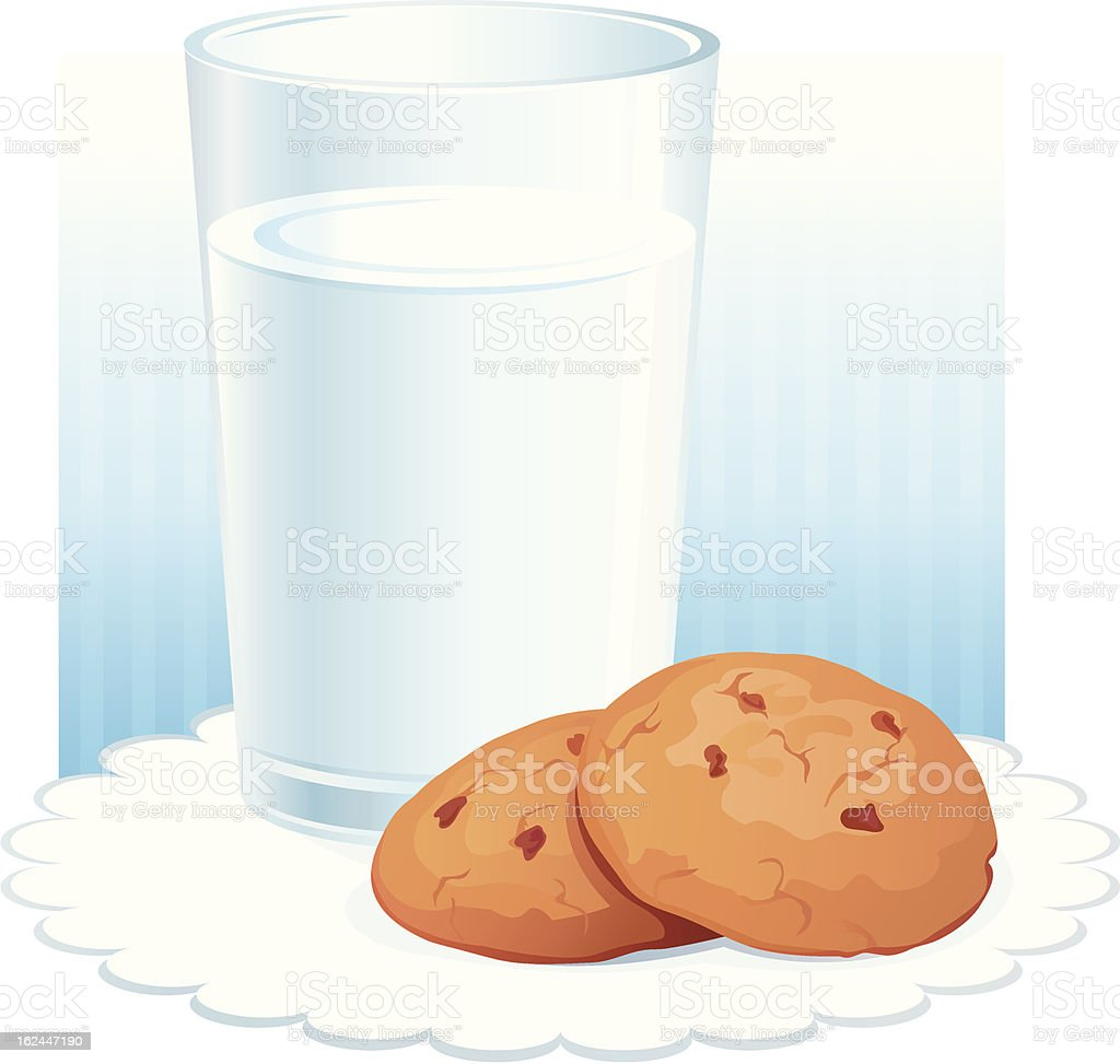 Glass with milk royalty-free stock vector art
