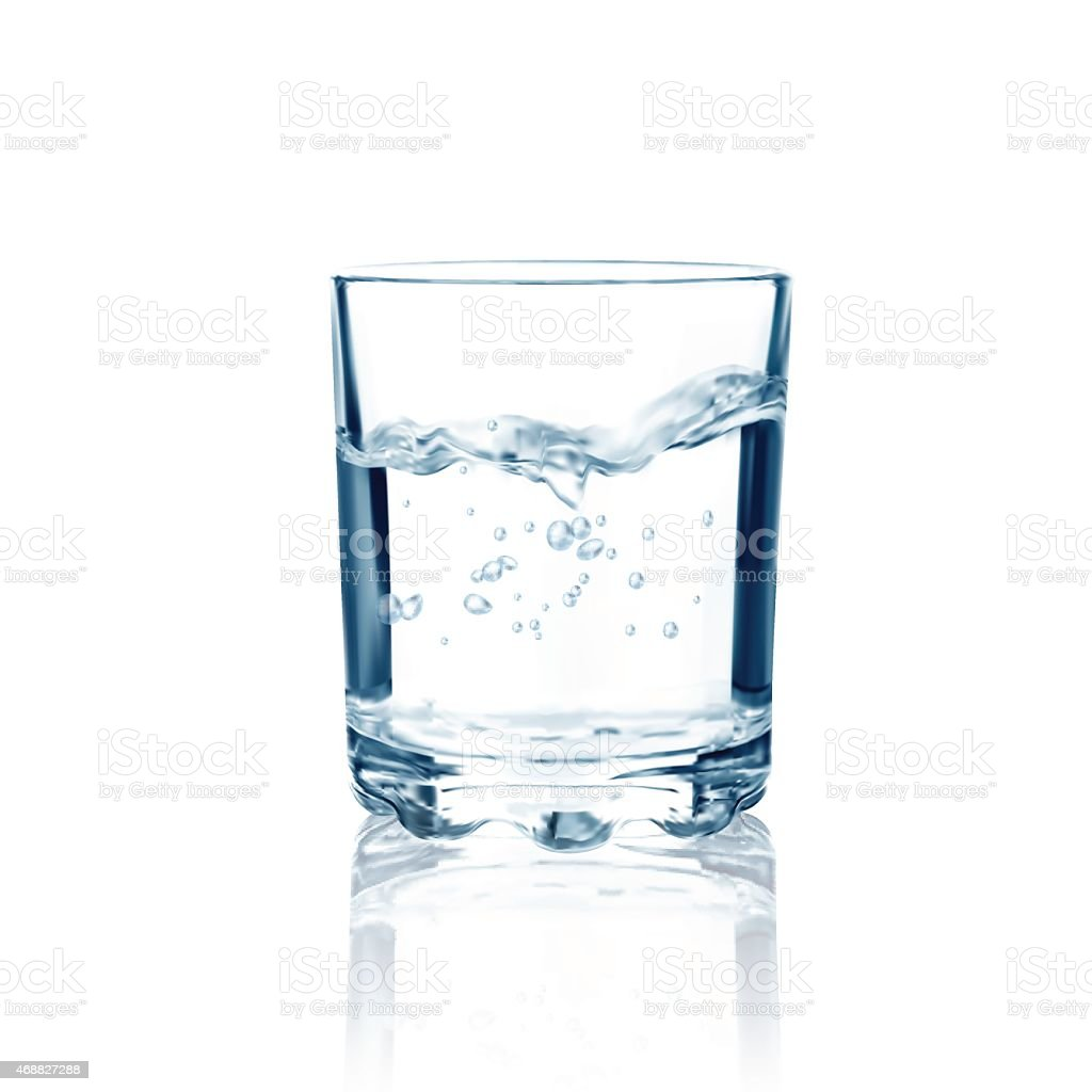 Glass with water isolated. Vector illustration vector art illustration