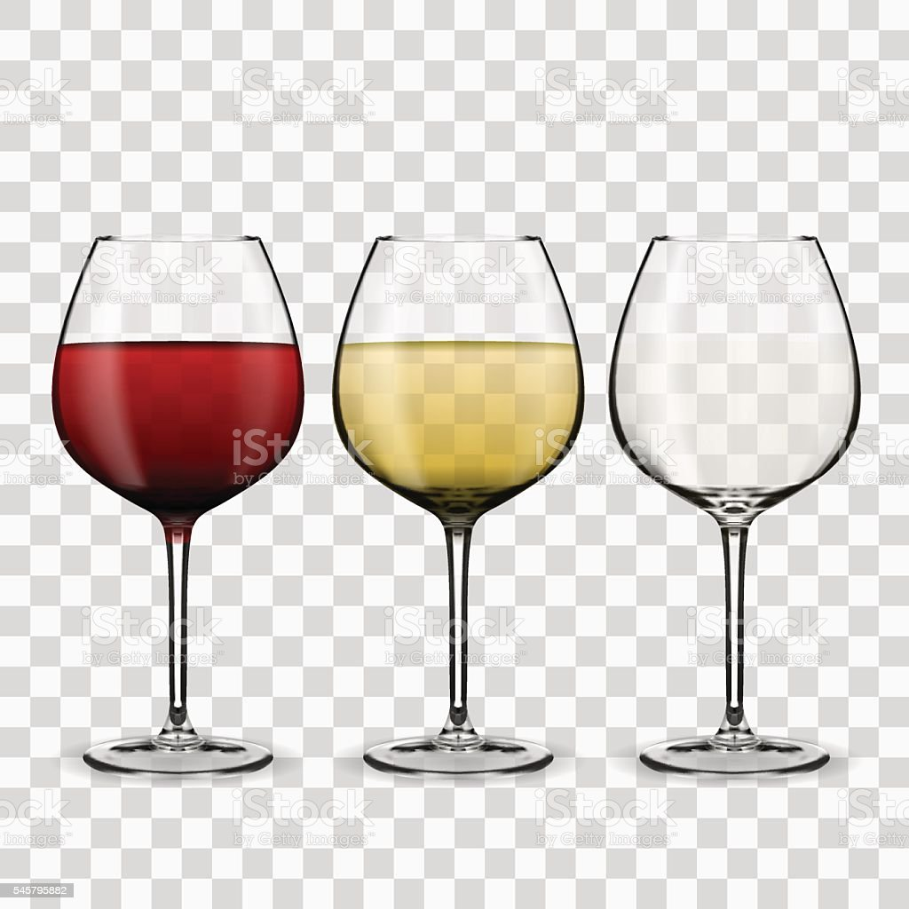 glass with wine vector art illustration