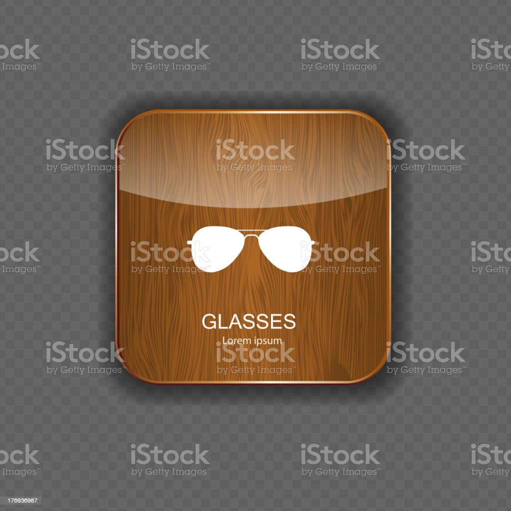 Glasses application icons vector illustration royalty-free stock vector art