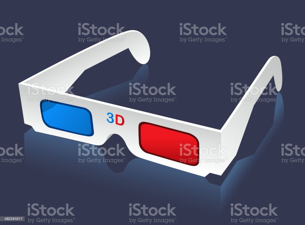 3D glasses eyewear royalty-free stock vector art
