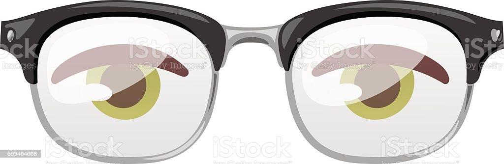 Glasses human eye vector vector art illustration