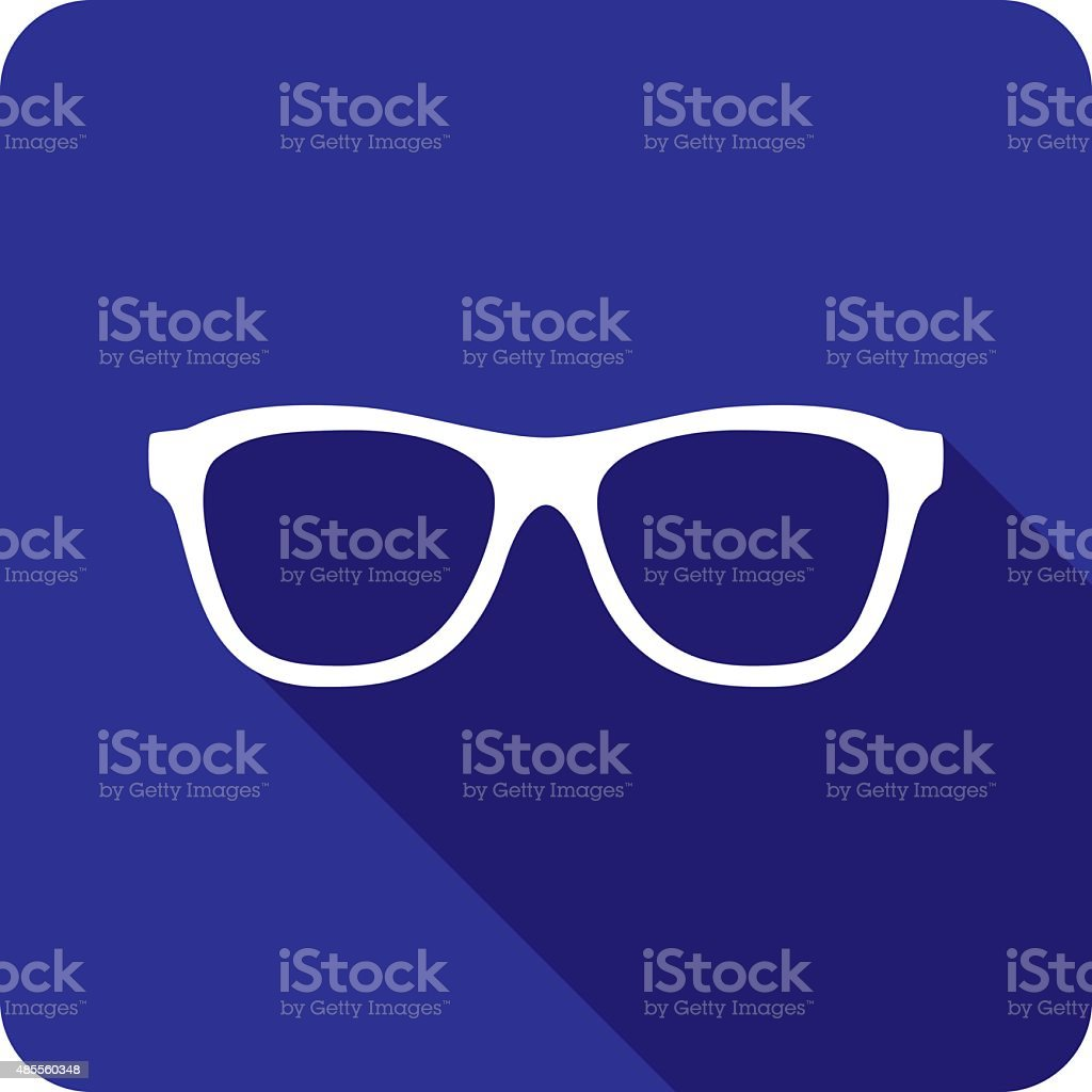 Glasses Icon Silhouette vector art illustration