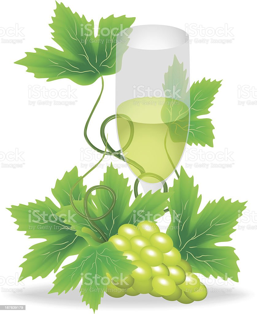 glasses of white wine royalty-free stock vector art