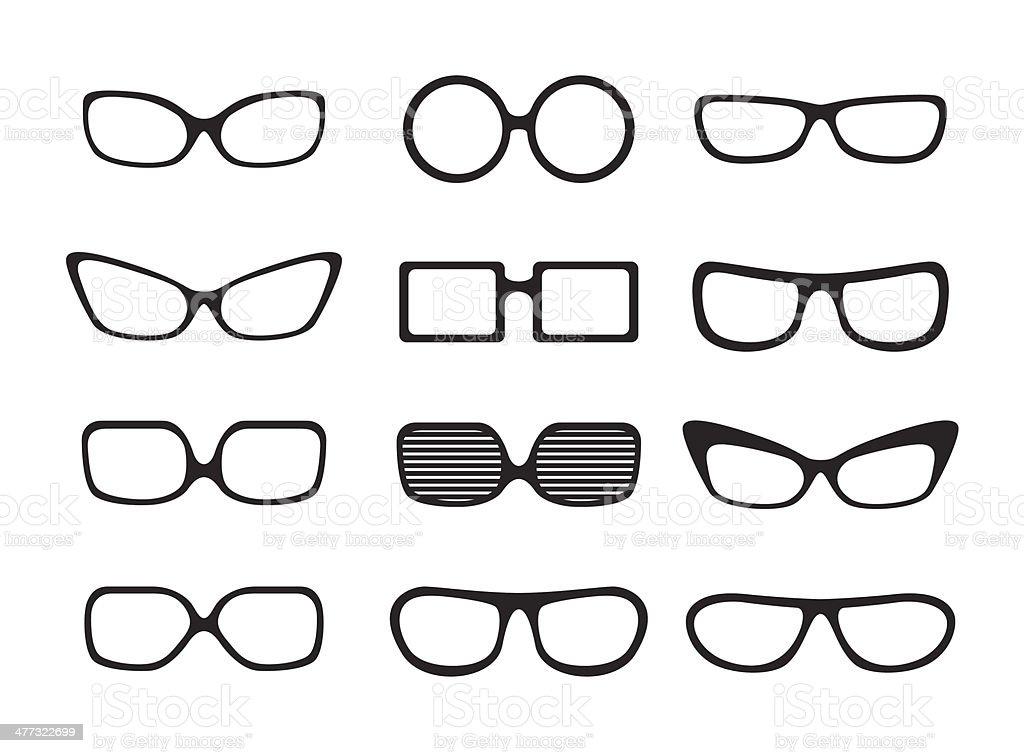 glasses set royalty-free stock vector art