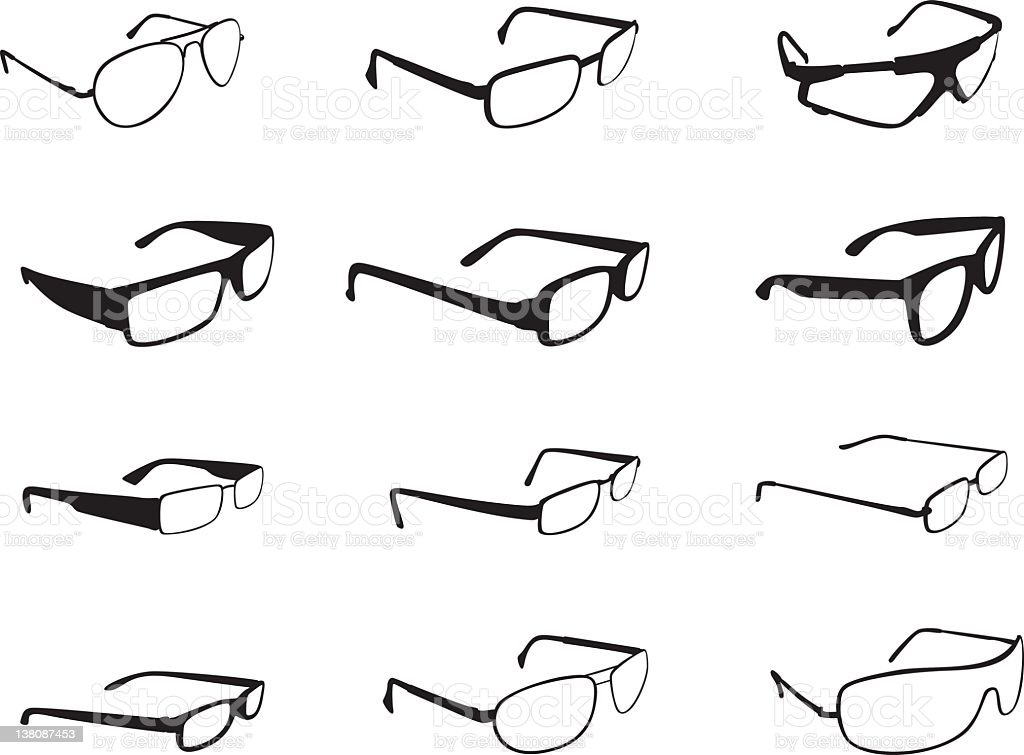 Glasses Silhouette stock photo