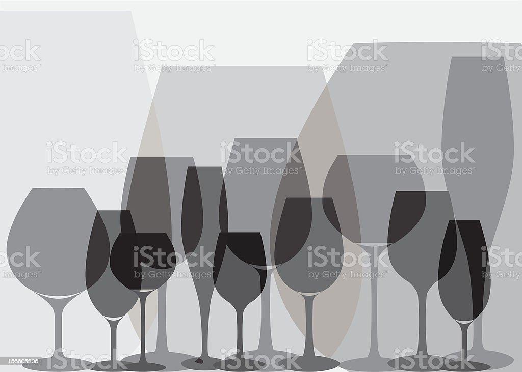 Glasses silhouette. royalty-free stock vector art
