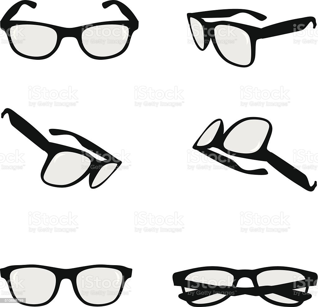 Glasses vector art illustration