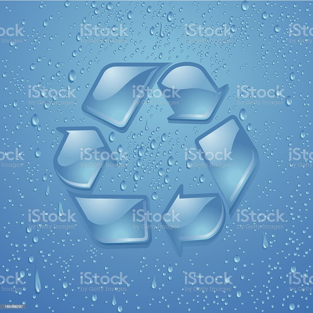 Glass-Like Recycle Symbol Vector royalty-free stock vector art