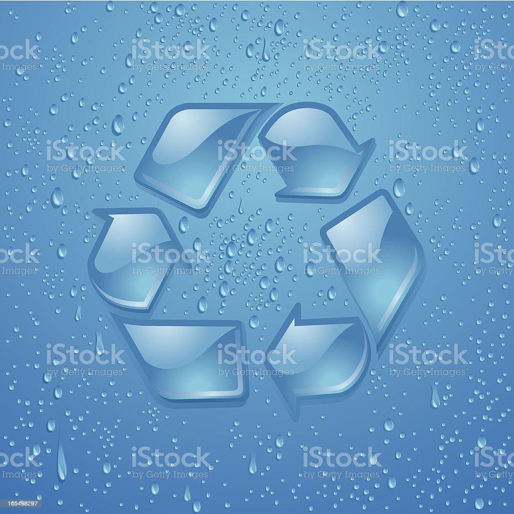 Glass-Like Recycle Symbol Vector vector art illustration