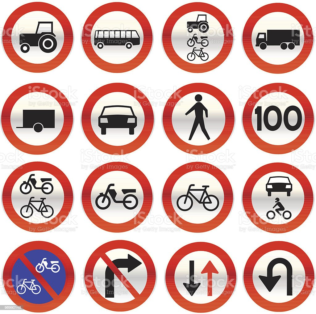 glassy road sign icons royalty-free stock vector art