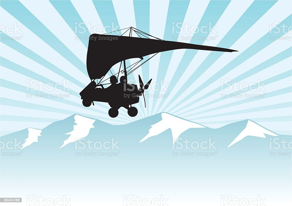 Glider royalty-free stock vector art