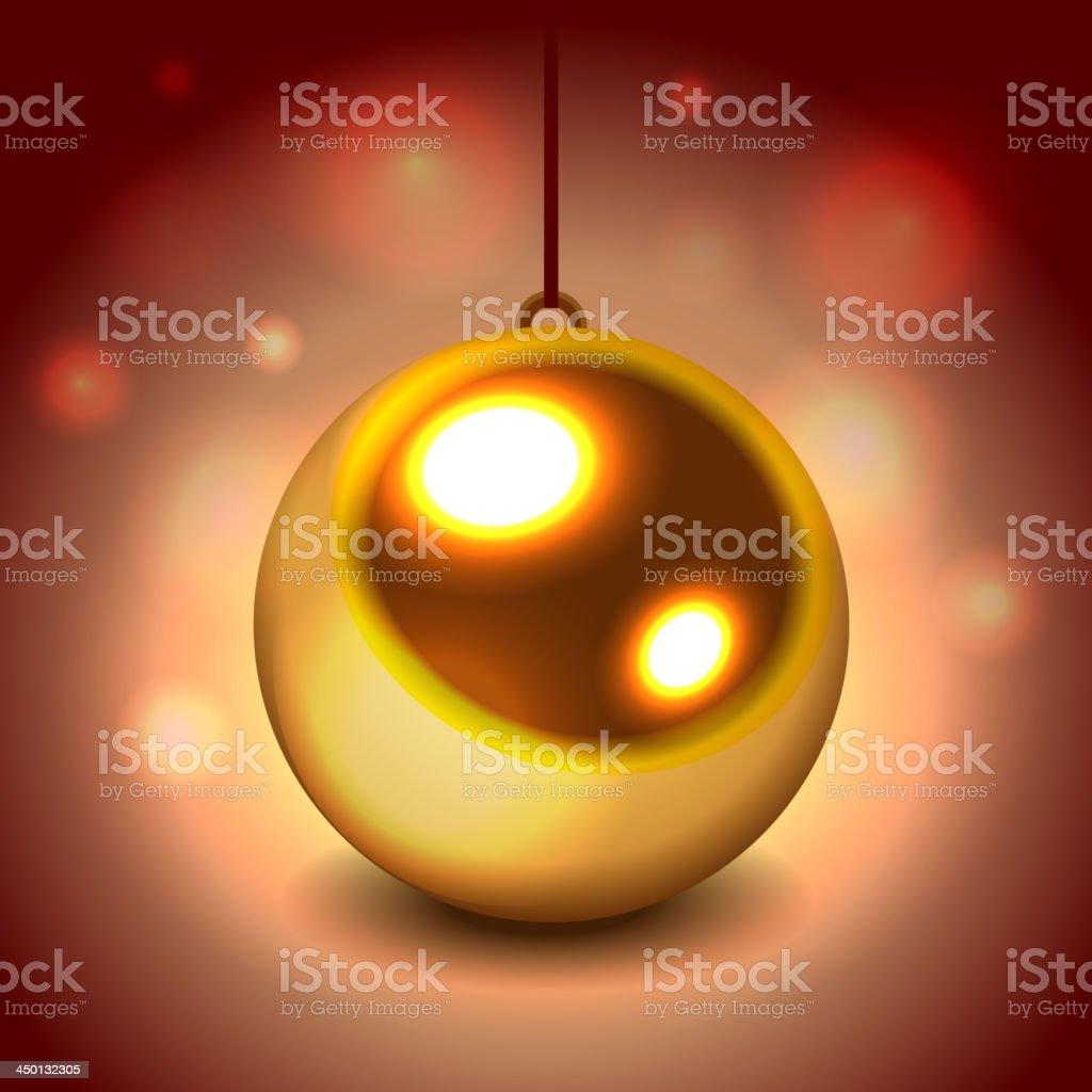 Glitter christmas ball royalty-free stock vector art