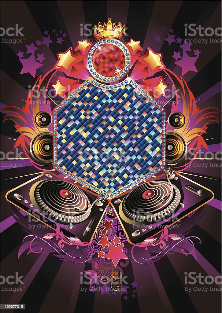Glitter Music royalty-free stock vector art