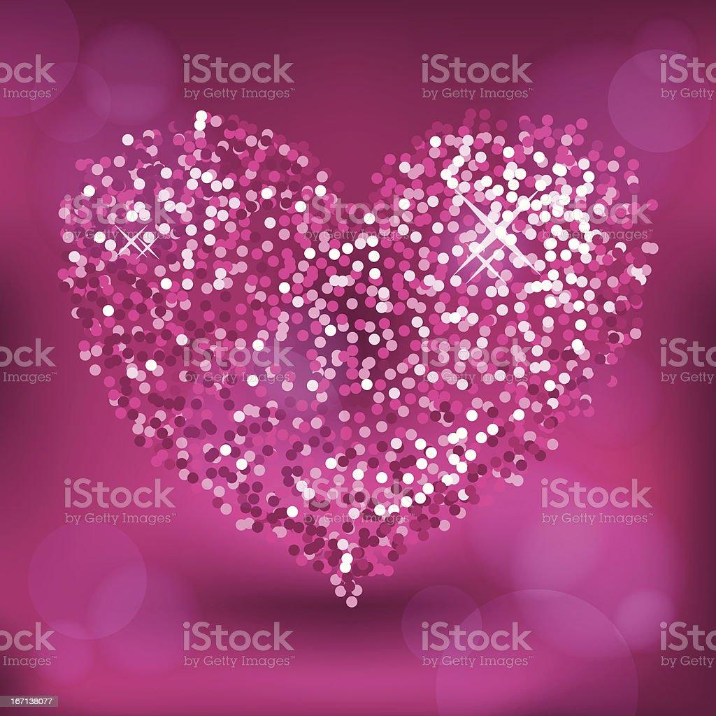 Glitter pink heart royalty-free stock vector art