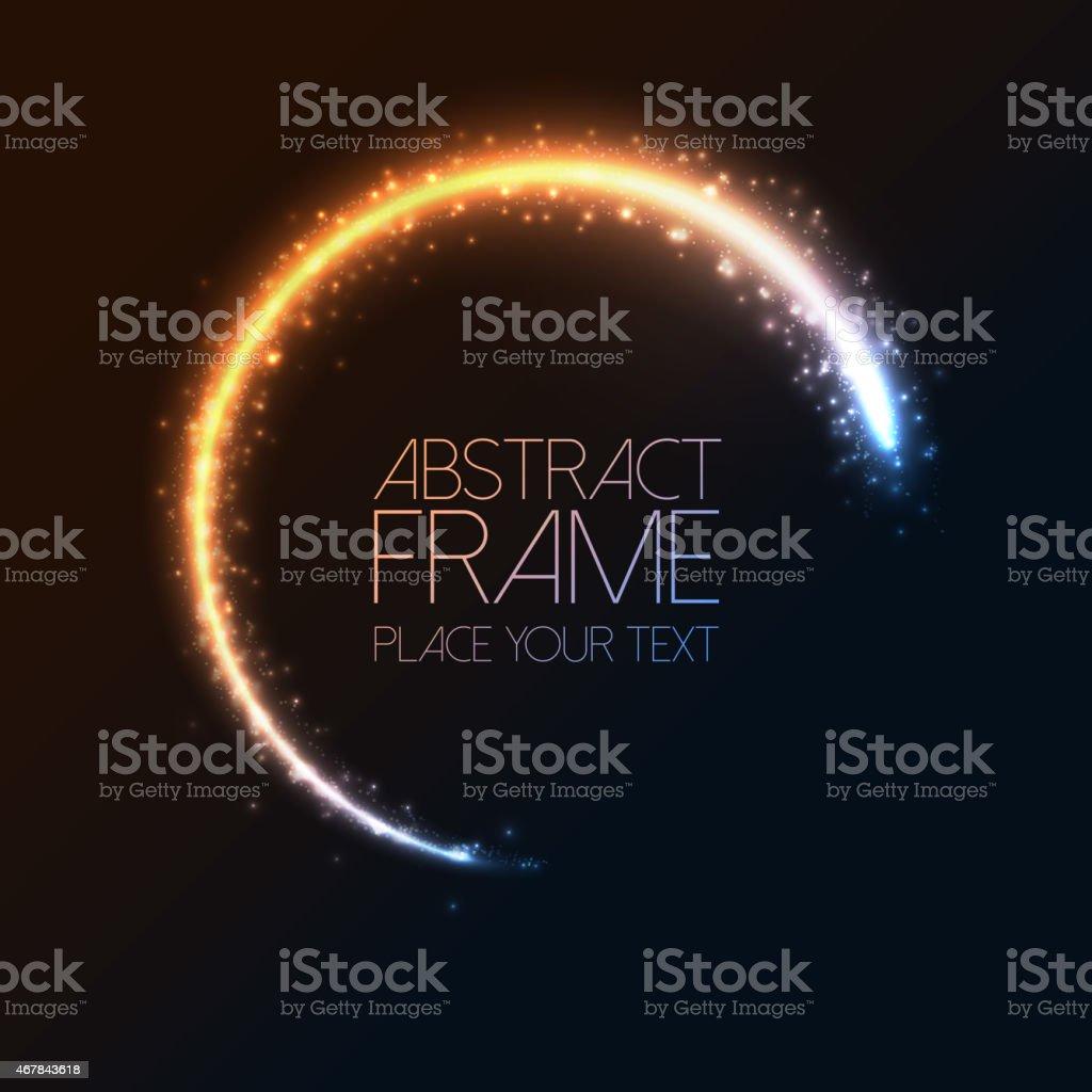 Glittering star dust circle frame vector art illustration