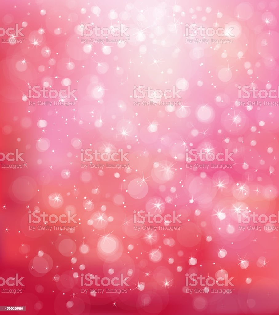 A glittery, pink background with circles vector art illustration