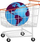 Glob In Shopping Trolley