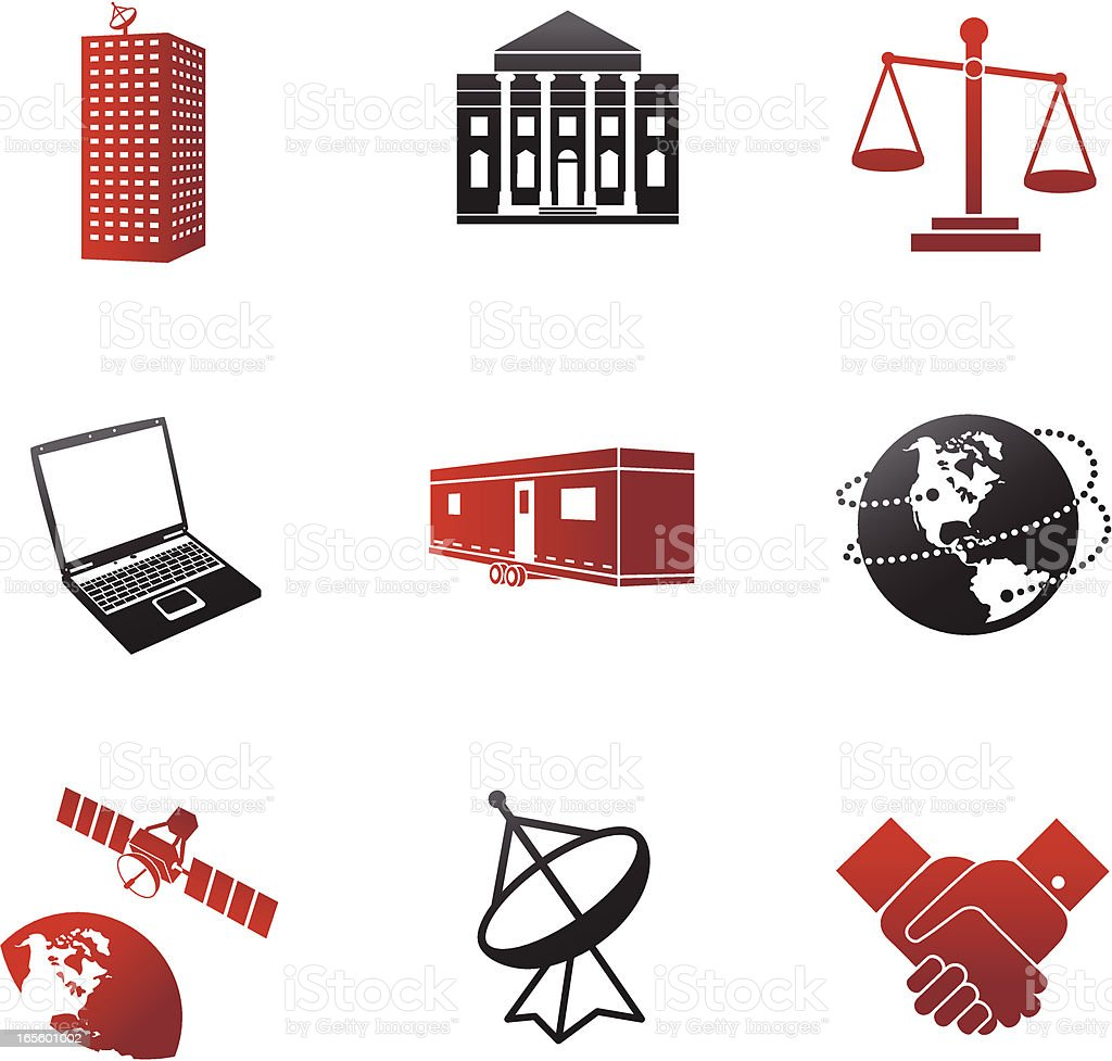 Global Business Communications Red and Black Series royalty-free stock vector art