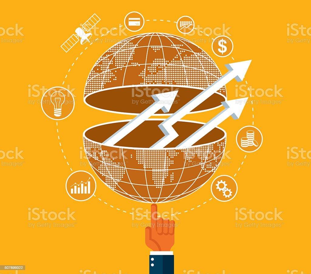 Global Business Communications vector art illustration