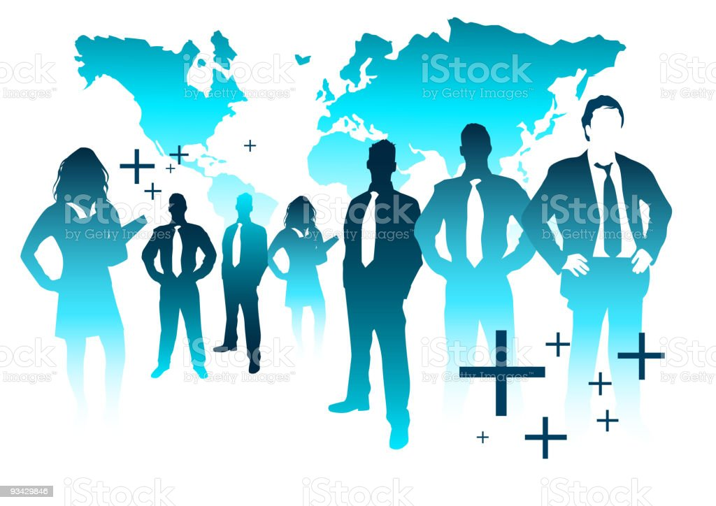 Global business Team royalty-free stock vector art
